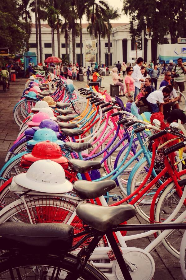 The Colorful. Colorful Classic Bike stock photography