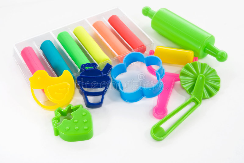 Colorful clay for children stock images