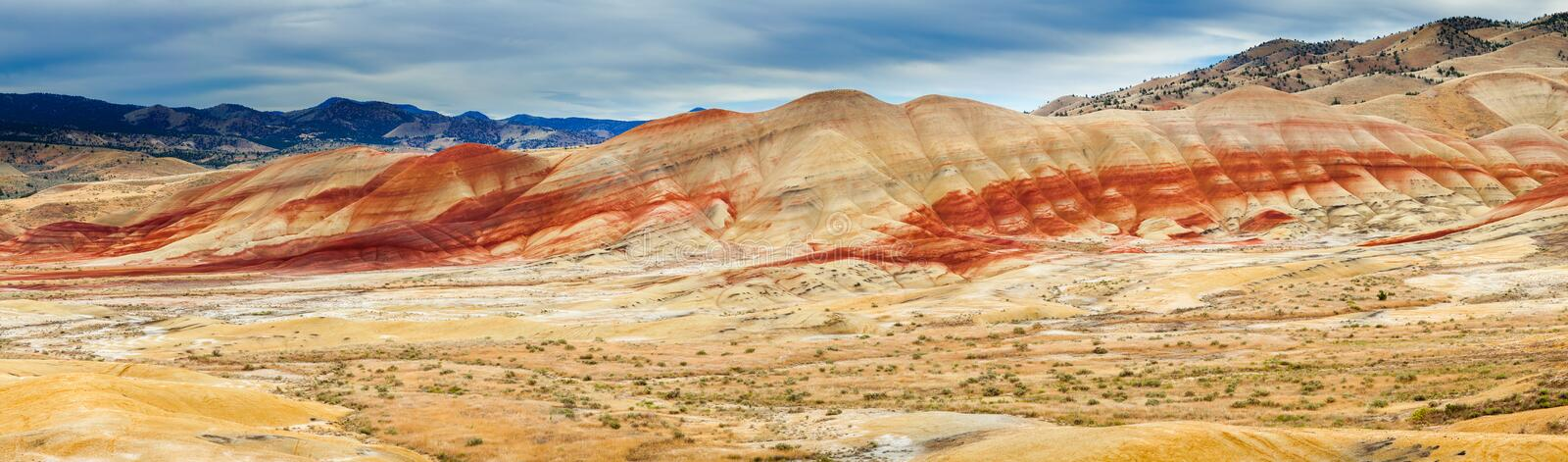 Colorful clay hills in the Painted Hills of Oregon royalty free stock photo