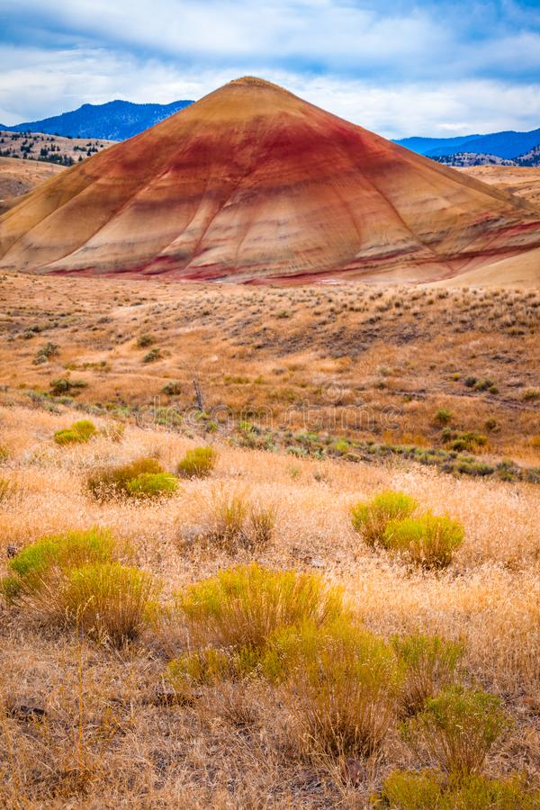 Colorful clay hills in the Painted Hills of Oregon royalty free stock photography