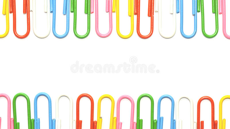 Colorful clips isolated royalty free stock images