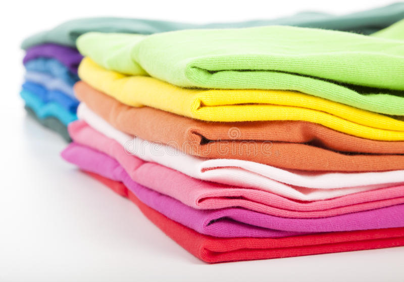 Colorful clothes and shirts royalty free stock photo