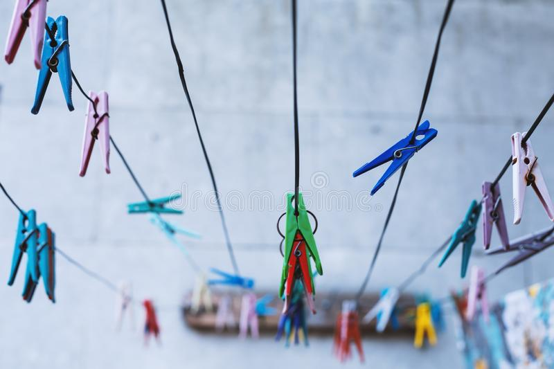 Colorful clothespin royalty free stock photography