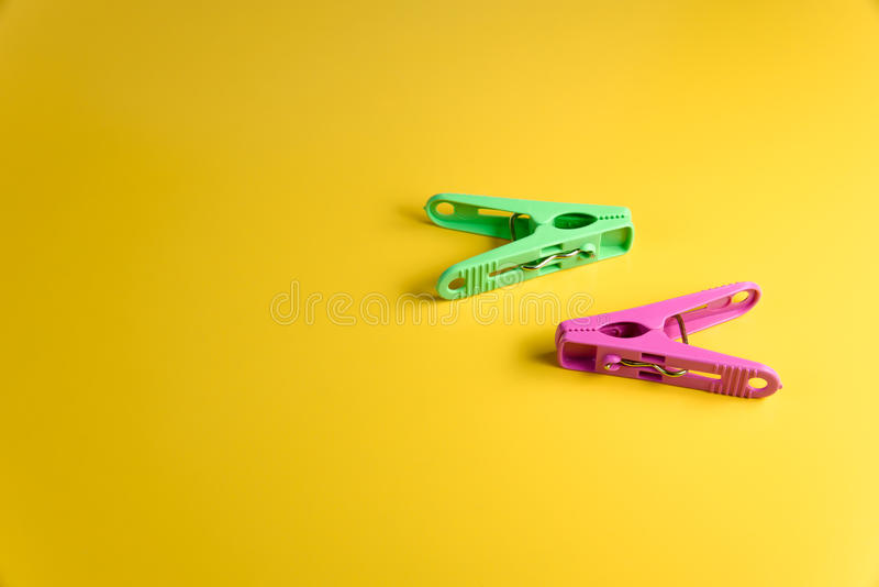 Colorful clothespin royalty free stock image
