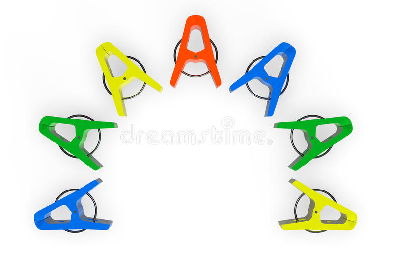 Download Colorful clothespins stock illustration. Image of shaped - 25136039
