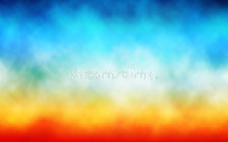 Colorful cloud background stock illustration