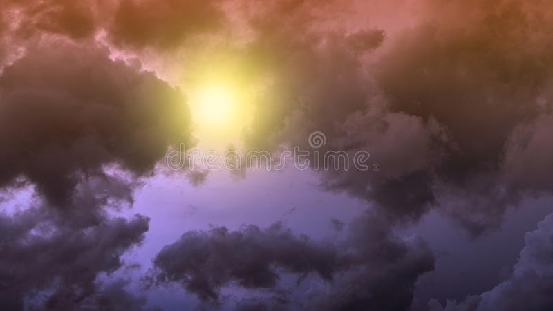 Colorful cloud on the sky. Sky abstract background royalty free stock image
