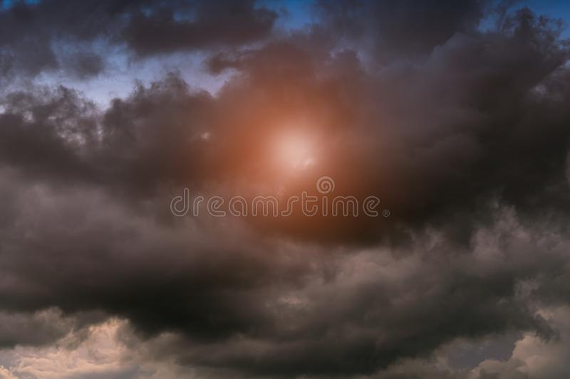 Colorful cloud on the sky. Sky abstract background stock photos