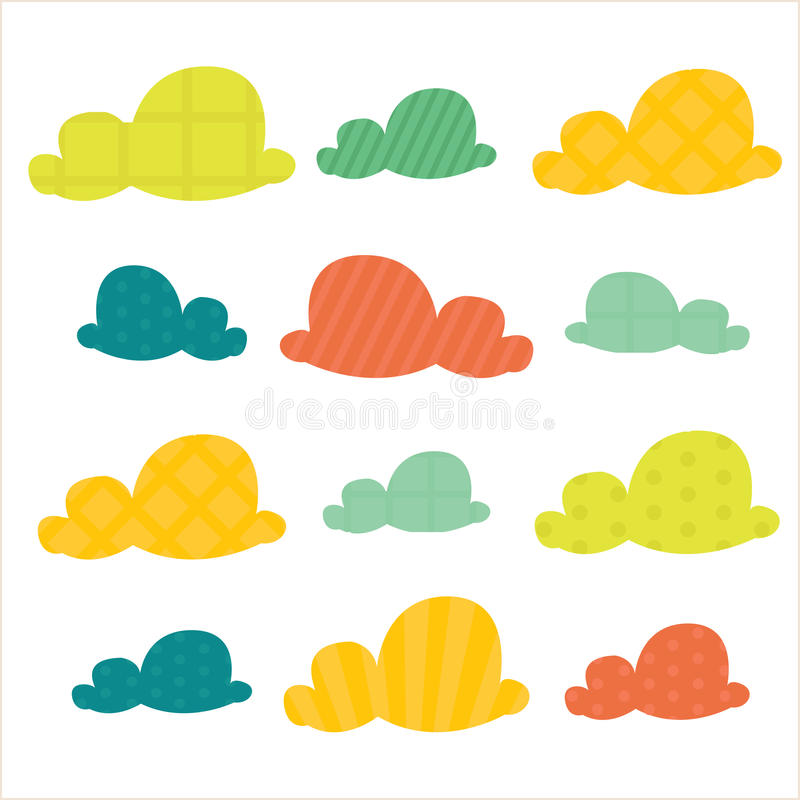 Colorful clouds royalty free illustration