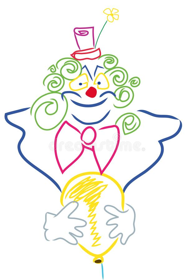Download Colorful Clown face stock vector. Illustration of color - 114347406