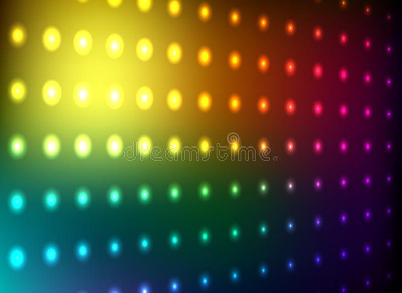 Colorful Club Light Wall Stock Photo