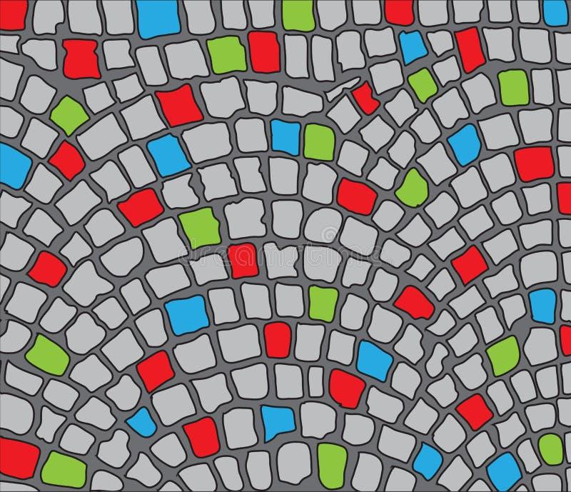 Colorful cobbles. Area. Vector illustration vector illustration
