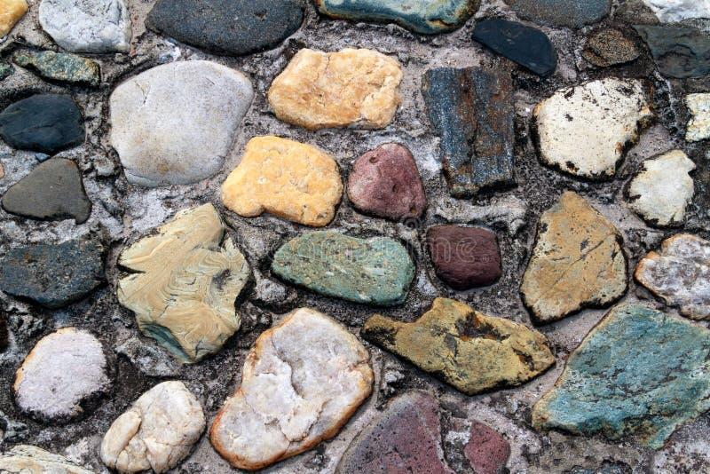 Colorful Cobblestones stock image