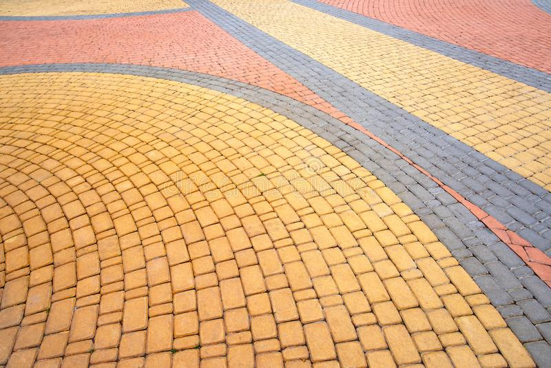 Colorful Cobblestones Pavement in the Park royalty free stock photo