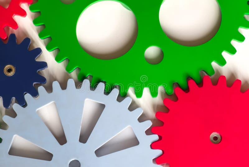 Colorful Cogwheels. On White Background royalty free stock image