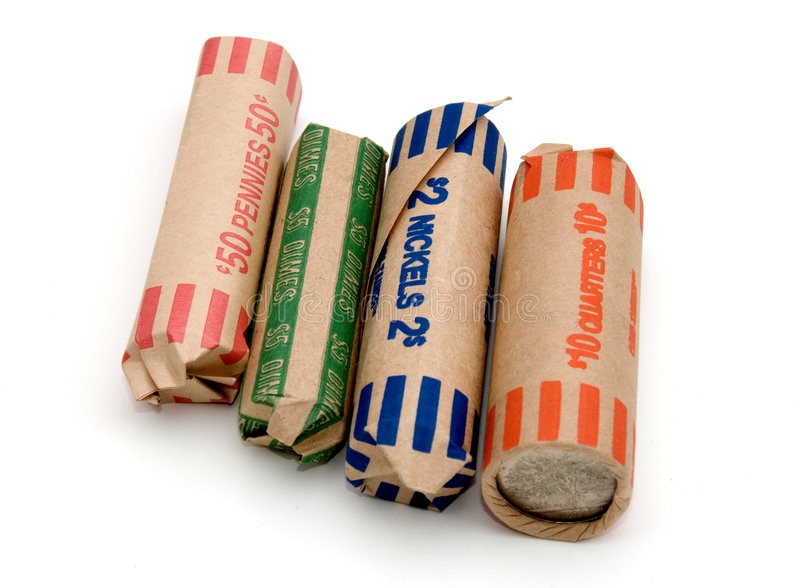 Download Colorful Coin Rolls Royalty Free Stock Photo - Image: 1973835