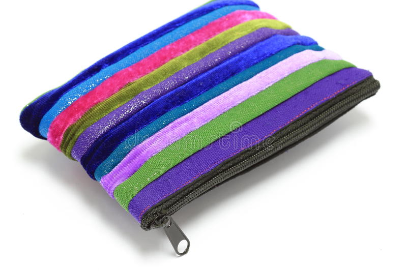 Colorful coins purse with zip