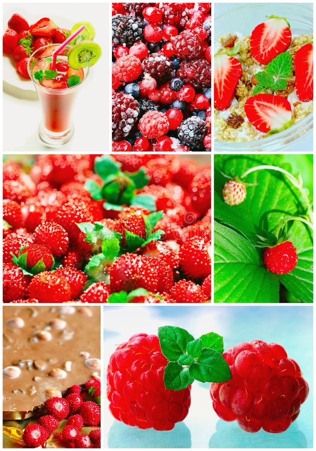 Download Colorful Collage Healthy Fruit Stock Photo - Image: 8174694