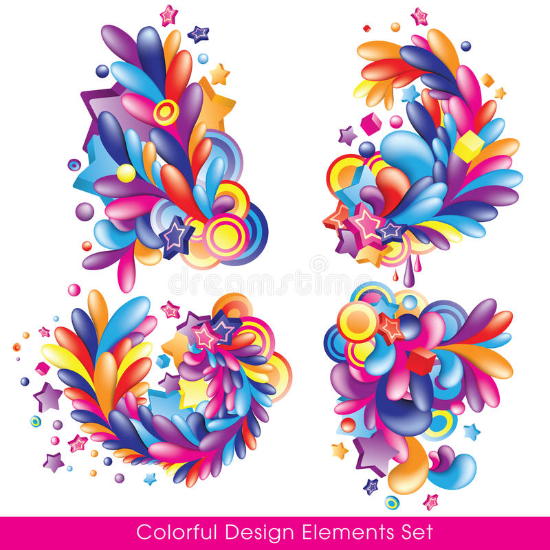 Colorful_collection vector illustratie