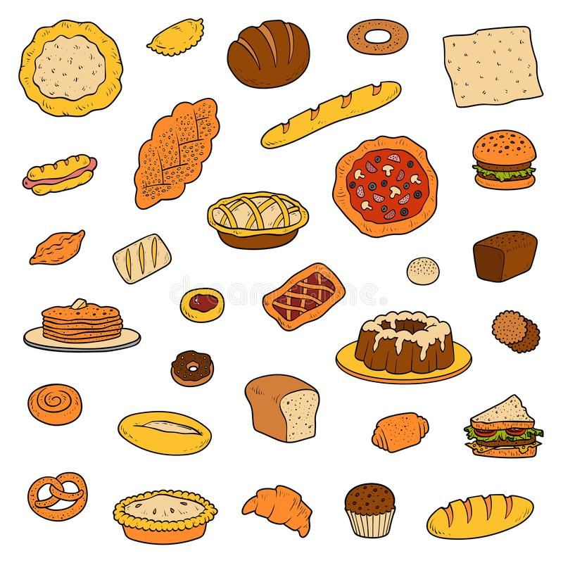 Free Colorful Collection About Bread Bakery Products Stock Photography - 127898522