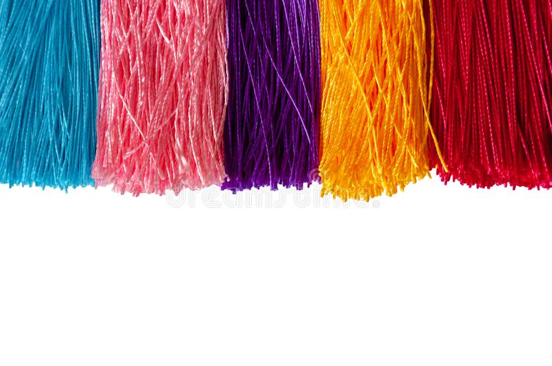 Colorful color of Chinese knot tassels. royalty free stock images
