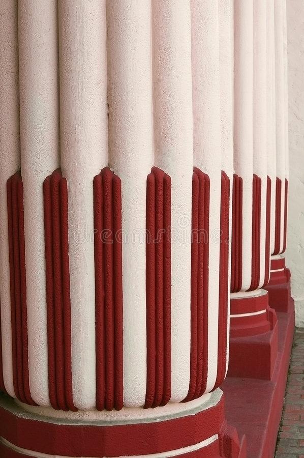 Download Colorful Columns Perspective Stock Image - Image: 2082305