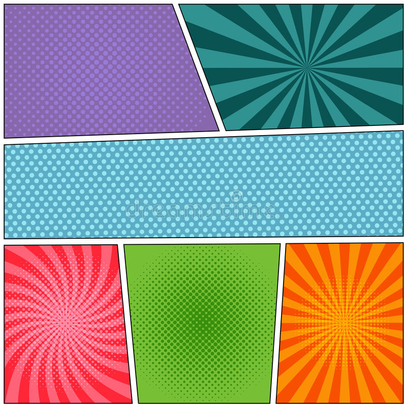 Colorful Comic book background stock illustration