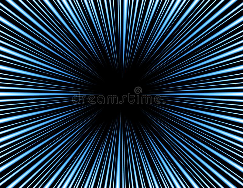 Colorful Comic and manga books speed lines background. light explosion background. vector illustration design. / glow royalty free illustration