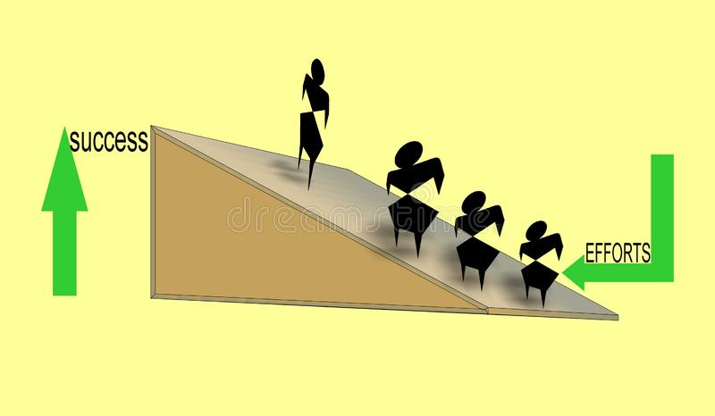 Colorful computer generated illustration and background design showing relation of efforts and success. Useful for many purpose like , wallpaper , screen savers stock illustration