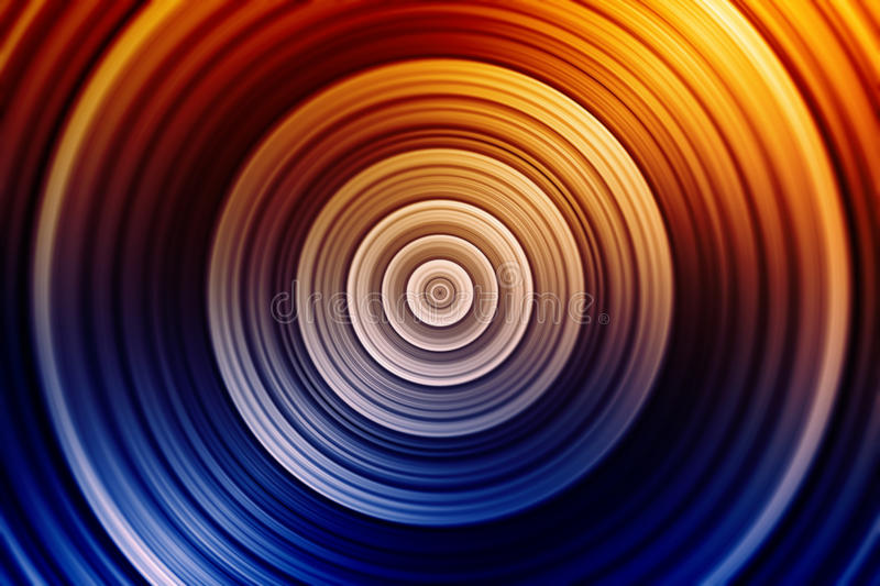 Colorful concentric circles royalty free illustration