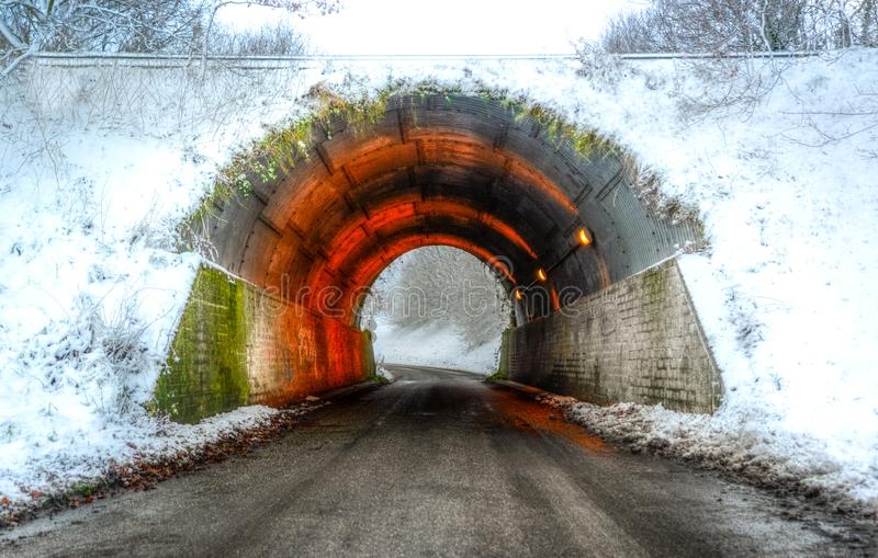 Colorful Concrete Tunnel royalty free stock photo