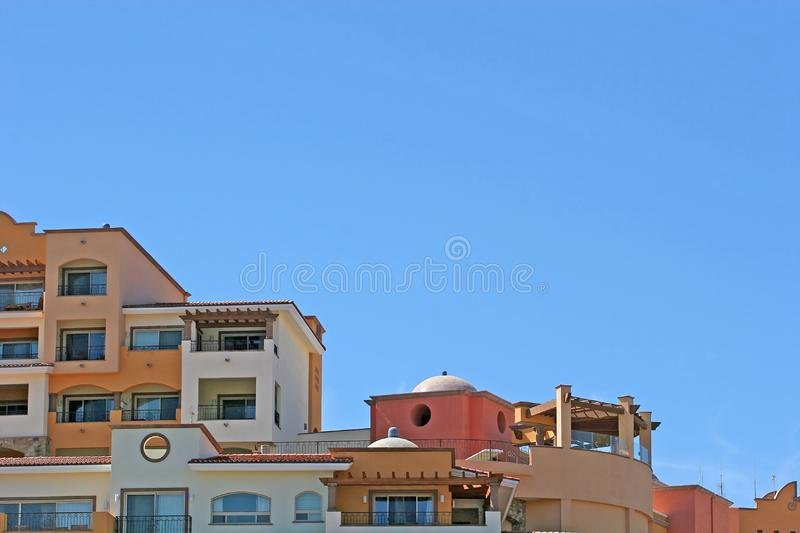 Colorful Condos and Blue sky royalty free stock photo