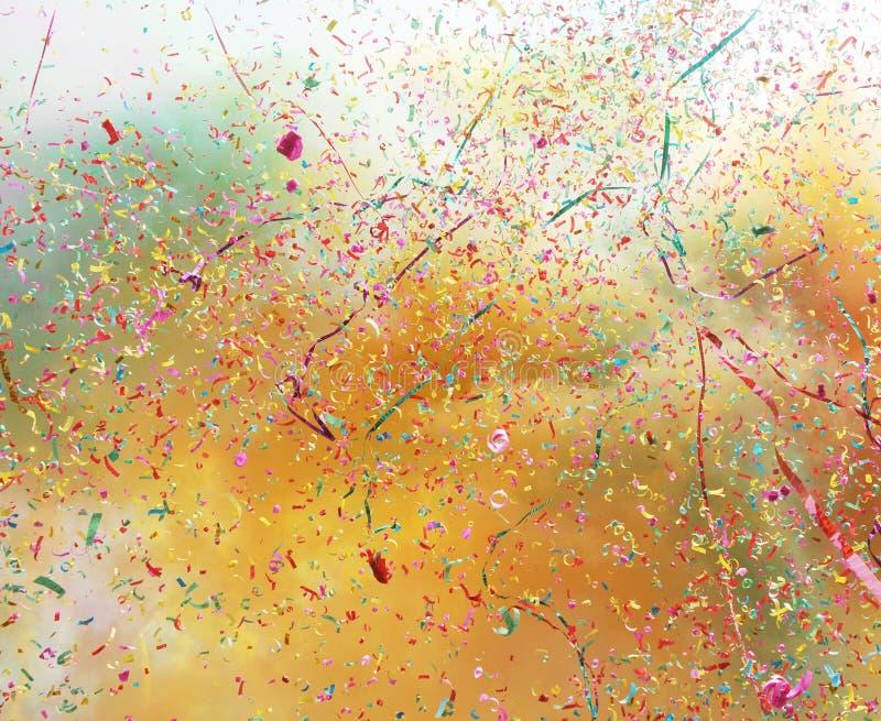 colorful confetti stock photography