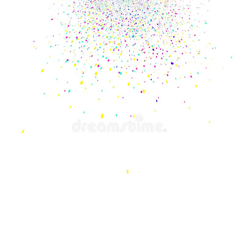 Colorful confetti scatter splash celebration party abstract back royalty free illustration
