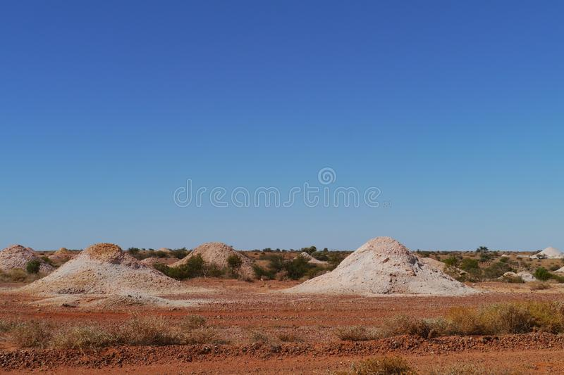 Colorful. Coober Pedy is a town in northern South Australia at the Stuart Highway and is famous for its opal mines royalty free stock images