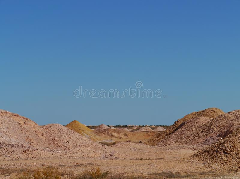 Colorful. Coober Pedy is a town in northern South Australia at the Stuart Highway and is famous for its opal mines stock photography
