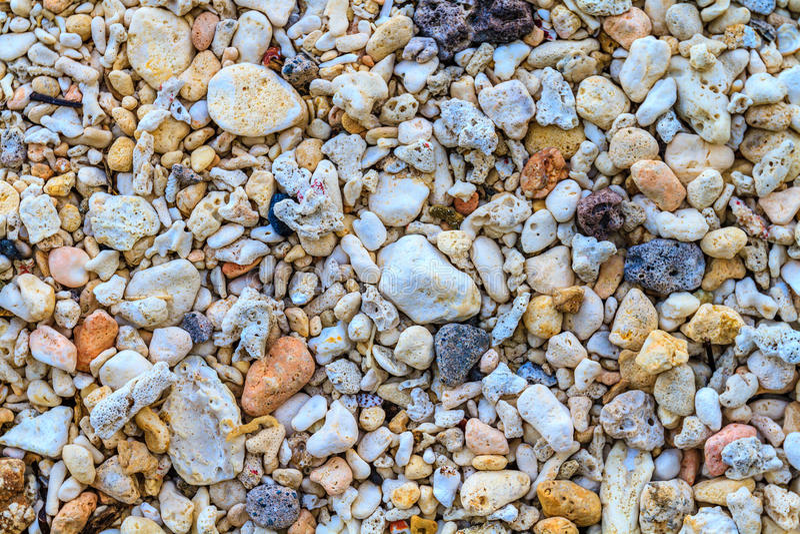 Colorful coral sand, Ilig Iligan Beach, Boracay Island, Philippines. Coral sand, Ilig Iligan Beach, Boracay Island, Philippines royalty free stock photos