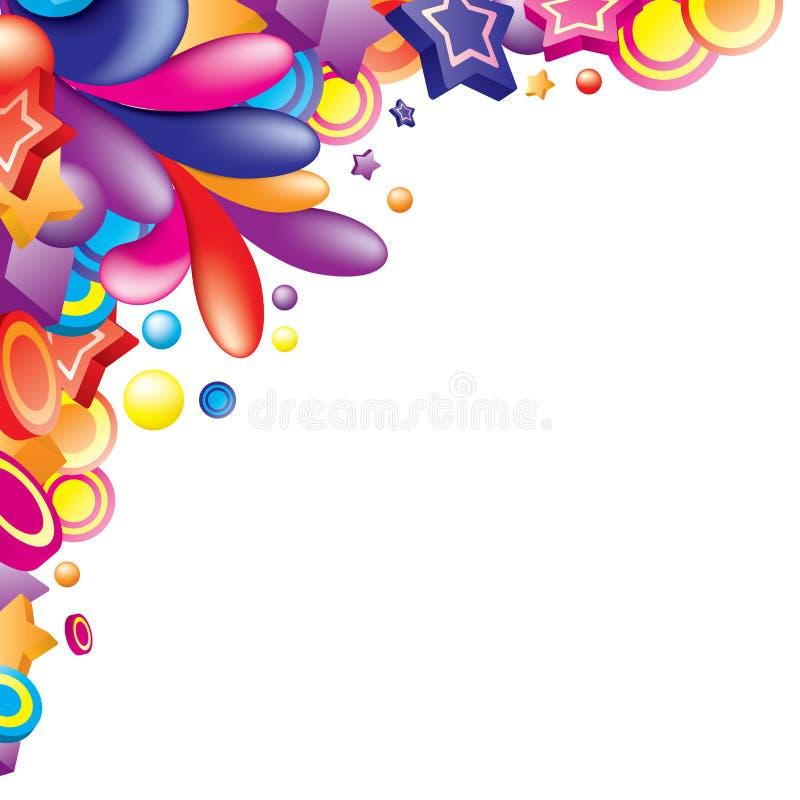 Colorful_corner ilustración del vector