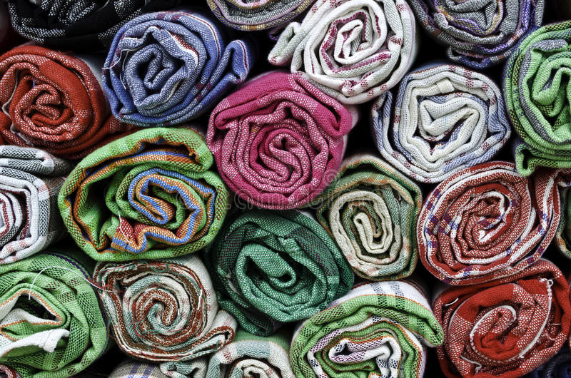 Download Colorful cotton towels stock image. Image of kitchen - 28445009