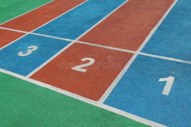 Colorful courses  with numbers