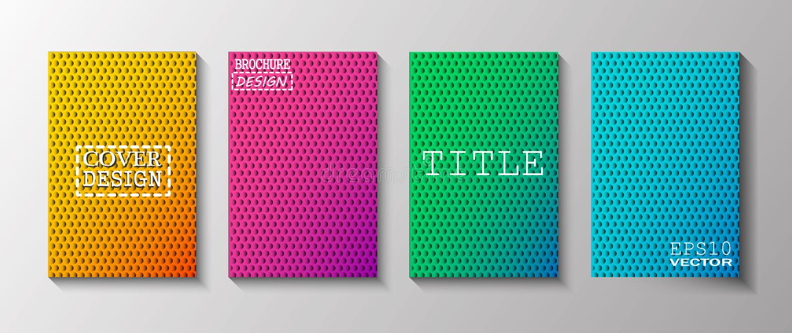 Colorful covers design. Minimal geometric pattern gradients. Eps10 vector stock illustration