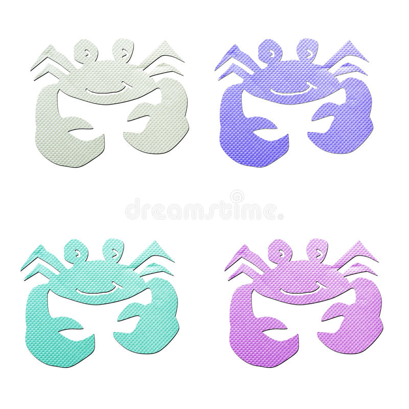 Download Colorful Crab  Tissue Papercraft Stock Image - Image: 27996451