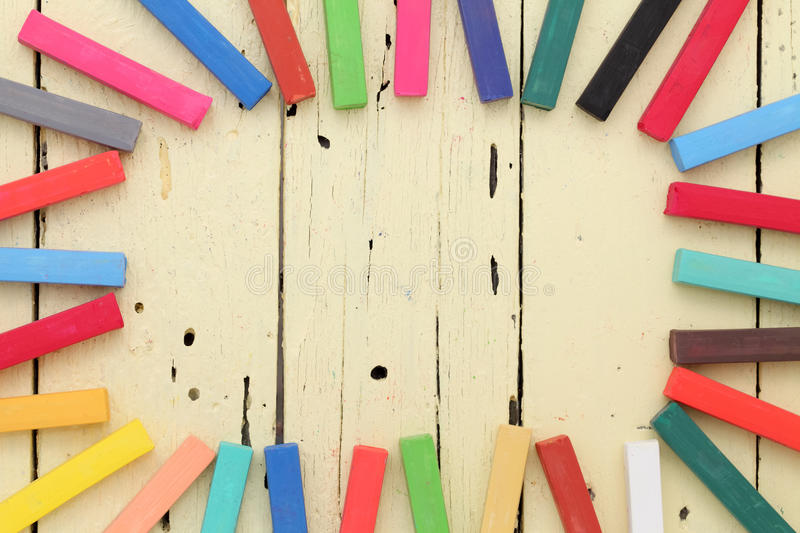 Download Colorful Crayons Frame Stock Images - Image: 33518174