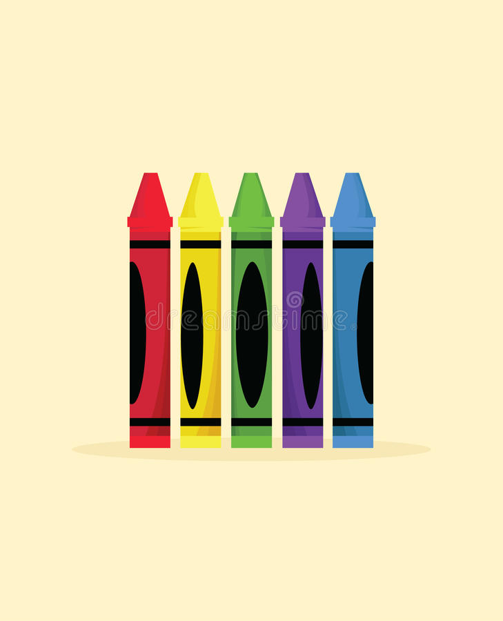 Colorful Crayons royalty free illustration