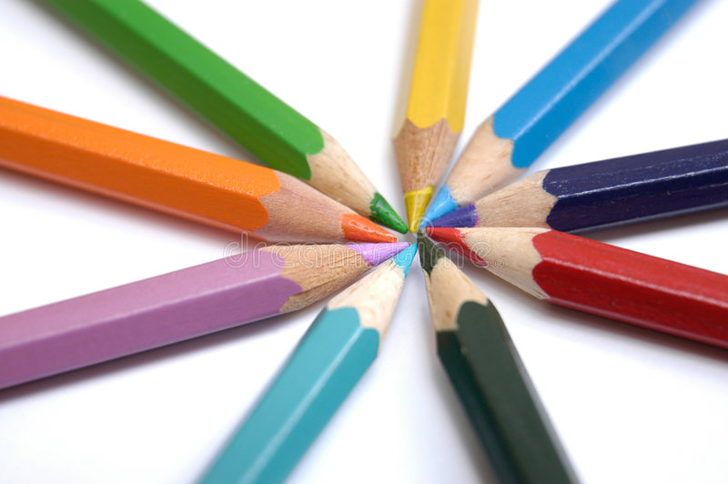 Colorful crayons VI royalty free stock photography