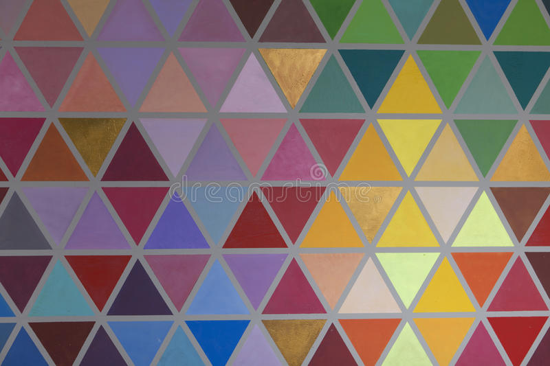 Colorful creative geometrical abstract shaped interior wall pain royalty free stock photography