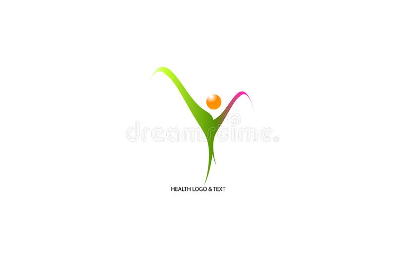Colorful creative logo isolate on white background. Design royalty free illustration