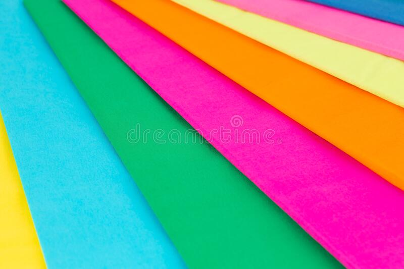 Colorful crepe papers stock photography
