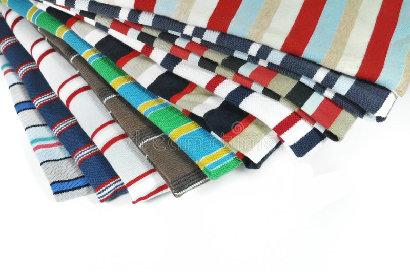 Colorful Cross-striped T-Shirts Stock Images