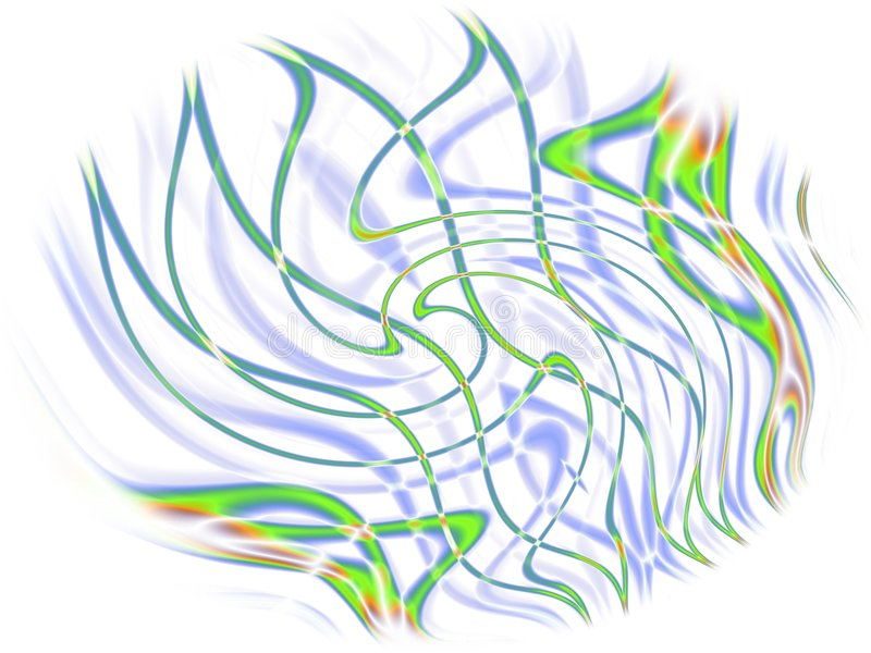 Download Colorful Crossing Lines Wisps Stock Illustration - Image: 2009349